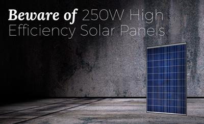 Beware Of High Efficiency Solar Panels Infinite Energy