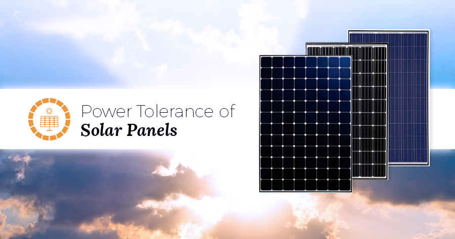 power tolerance of solar