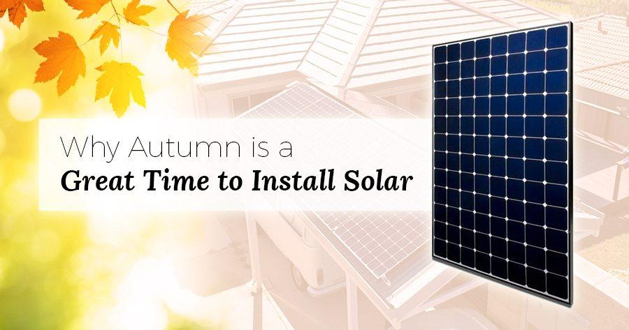 Install solar autumn