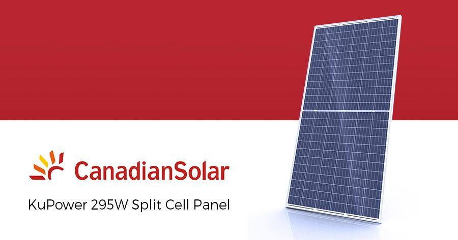 canadian solar kupower 295w split cell panel infinite energy. Black Bedroom Furniture Sets. Home Design Ideas